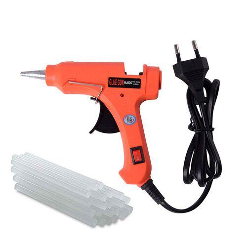 20 Watt Hot Melt Glue Gun Kit with 30pcs Glue Sticks for School DIY Art & Craft Projects and Home Qu