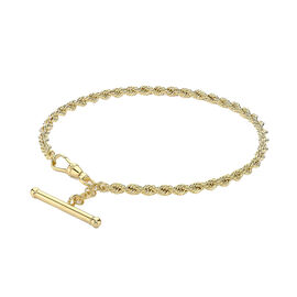 9K Yellow Gold Albert Rope Necklace (Size 18), Gold wt. 5.52 Gms