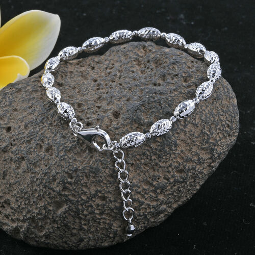 Royal Bali Collection 9K White Gold Bracelet (Size 7 with 1 inch Extender) Gold Wt 4.27 Grams