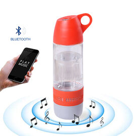 Water Bottle with Wireless Bluetooth Speaker in Red (Capacity 400ml)