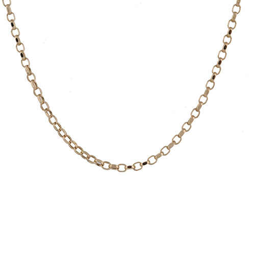 9K Yellow Gold Oval Belcher Chain (Size 20), Gold wt. 3.21 Gms