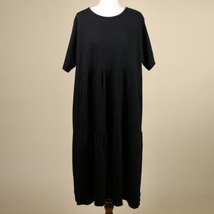 Nova of London Tiered Oversized Smock Midi Dress in Black (Size up to 20) (60x110cm)