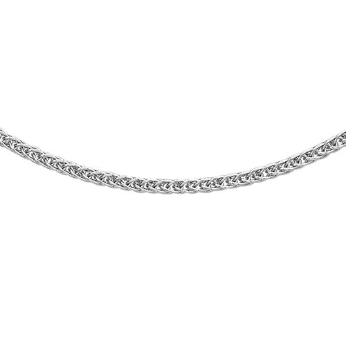 Close Out Deal RHAPSODY 20 Inch Spiga Chain Necklace in 950 Platinum 2.75 Grams