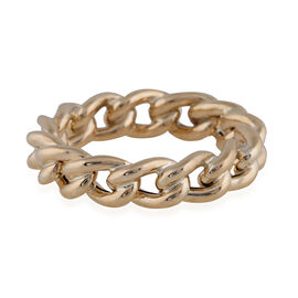 Vicenza Collection- 9K Yellow Gold Curb Ring
