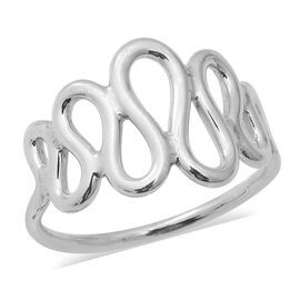 Designer Inspired Sterling Silver Swirl Ring