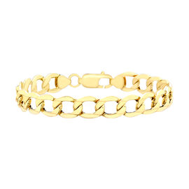 6 Sided Curb Bracelet in 9K Yellow Gold 8.5 Inch
