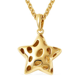 RACHEL GALLEY Shimmer Collection - Yellow Gold Overlay Sterling Silver Pendant with Chain (Size 18 w