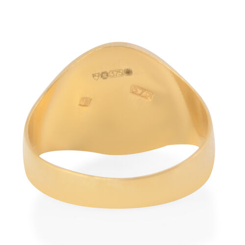 9K Yellow Gold Signet Ring, Gold wt 2.65 Gms