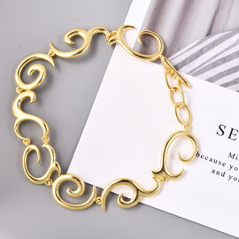 LucyQ Swirl Bracelet in Gold Plated Sterling Silver 8.5 Inch