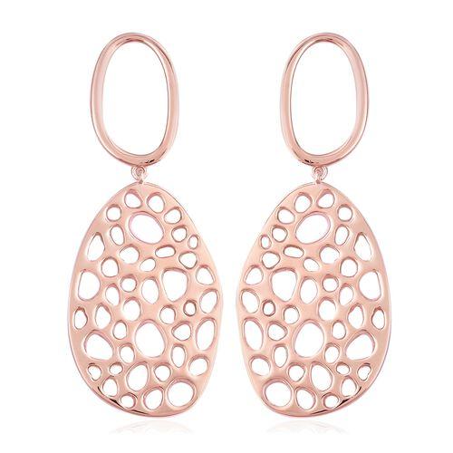 RACHEL GALLEY Lattice Drop Earrings in Rose Gold Plated Sterling Silver 16.52 Grams