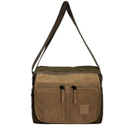 Artsac - Khaki and Sand Multi Pocket Crossbody Bag