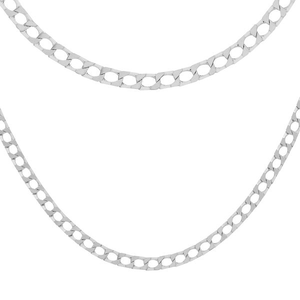 Sterling Silver Diamond Cut Square Curb Chain (Size 16), Silver wt 6.00 Gms
