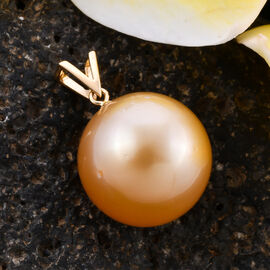 ILIANA 18K Yellow Gold Golden South Sea Pearl Pendant
