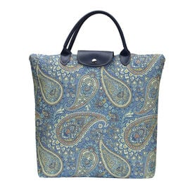 SIGNARE - Tapestry Paisley Fold Away Shopping Bag (38 x 35.5 x 9cm)