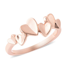 RACHEL GALLEY - Rose Gold Overlay Sterling Silver Heart Ring