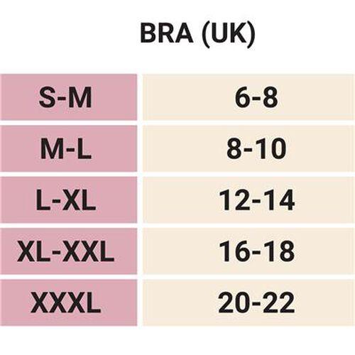 SANKOM SWITZERLAND Bamboo Bra For Back Support - Grey (Size M/L -UK | Size 12-14)