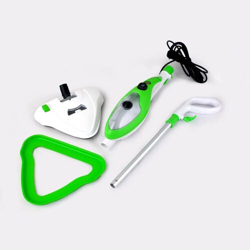 Multifunction Steam Mop Cleaner with UV Lamp (Size 30.5x21.2x110.5cm) - Green and White
