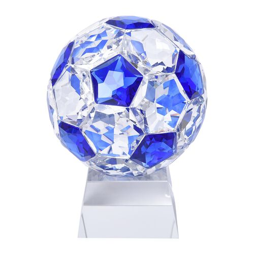 Collectors Edition - Crystal Football with Base (Size 7x14 Cm) - Blue Sapphire Colour