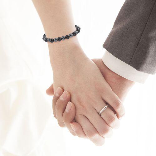 Shungite and Hematite Stretchable Bead Bracelet (Size 8) 137.00 Ct.