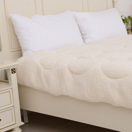 Single Size - Luxury Teddy Bear Soft and Warm Sherpa Microfibre Duvet with Faux Down Filling, Oeko-Tex Certified