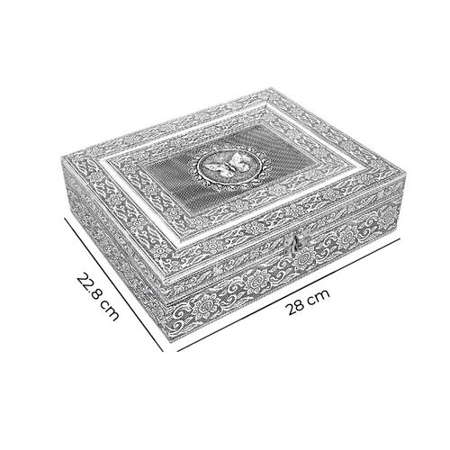3D Embossed Collection Handcrafted Butterfly Oxidised Jewellery Box (Size 28x22.8cm)