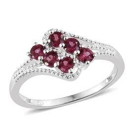 Orissa Rose Garnet (Rnd) Ring in Sterling Silver 1.000 Ct.