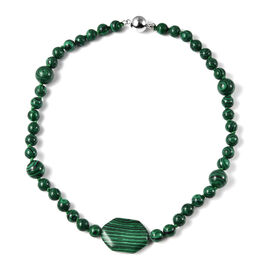 Malachite Bead Necklace (Size 18) with Magnetic Clasp 187.50 Ct.