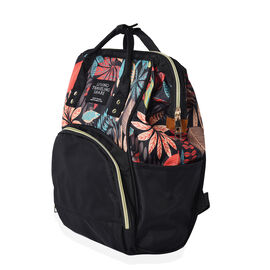 Multi Pocket Backpack with Zipper Closure and Adjustable Shoulder Strap (Size 36x12x27 Cm) - Black a