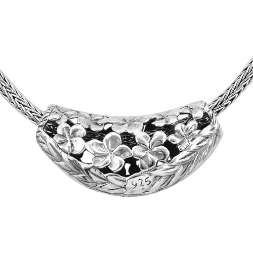 Royal Bali Collection Sterling Silver Necklace (Size 18), Silver wt 22.60 Gms