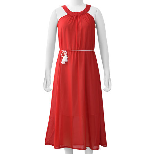Red Colour One Piece Dress