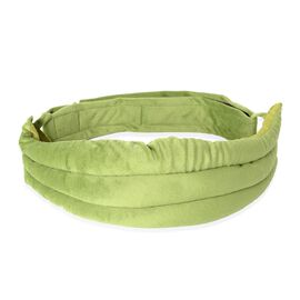 Heatable and Freezable Waist Belt (Size 54x15 Cm) - Green Filled with Rice, Clove, Cinnamon, Eucalyp
