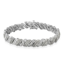5 Carat Diamond Tennis Design Bracelet in 9K White Gold 15.50 Grams 7.25 Inch I3 GH