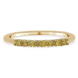 9K Yellow Gold Yellow Diamond Ring 0.20 Ct