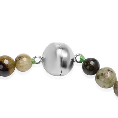 Tucson Find-Extremely Rare Mali Garnet Necklace (Size 20) with Magnetic Lock in Sterling Silver 405.50 Ct.