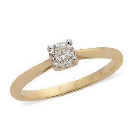 ILIANA 18K Y Gold IGI Certified Diamond (SI/G-H) (Oct) Solitaire Ring 0.500 Ct.