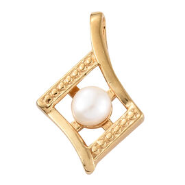 Fresh Water Pearl (Rnd 5mm) Pendant in 14K Gold Overlay Sterling Silver