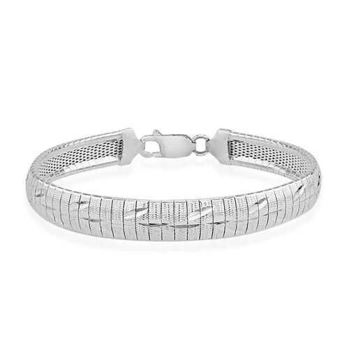 JCK Vegas Collection Bracelet in Rhodium Plated Sterling Silver 14.80 grams Size 7.5 Inch