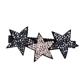 Lovely Star Duckbill Hair Clip - Silver and Black