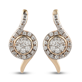 RACHEL GALLEY Embrace Collection - 9K Yellow Gold SGL Certified Diamond (I3/G-H) Earrings (With Push