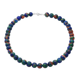 Multi Colour Jasper Beads Necklace (Size 18) in Sterling Silver 250.00 ct.