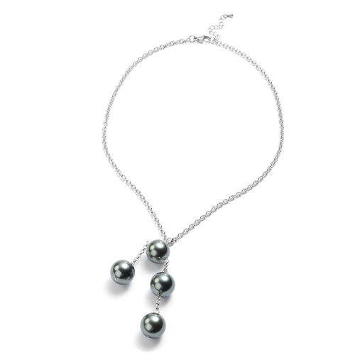 2 Piece Set - Tahitian Shell Pearl Necklace (Size 20) and Stud Earrings