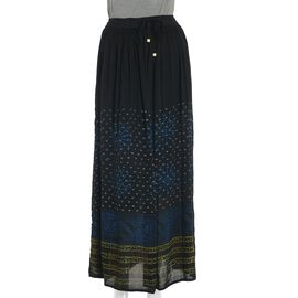 Black Colour One Size Skirt (Size 100x76 Cm)