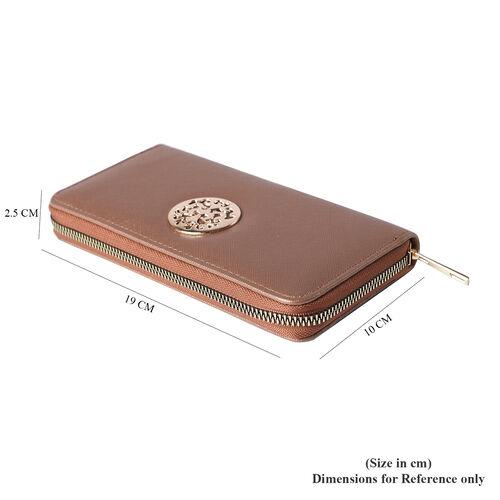 Shimmer Bronze RFID Long Clutch Wallet