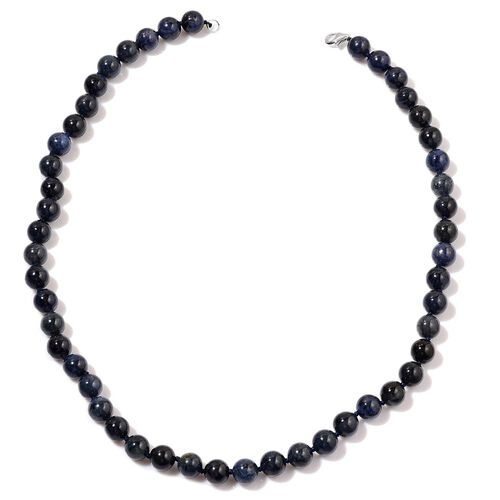 Blue Denim Stone Necklace (Size 18) in Sterling Silver 250.000 Ct.