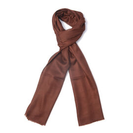 100% Cashmere Wool Brown Colour Ultra Soft Scarf (Size 200X70 Cm)