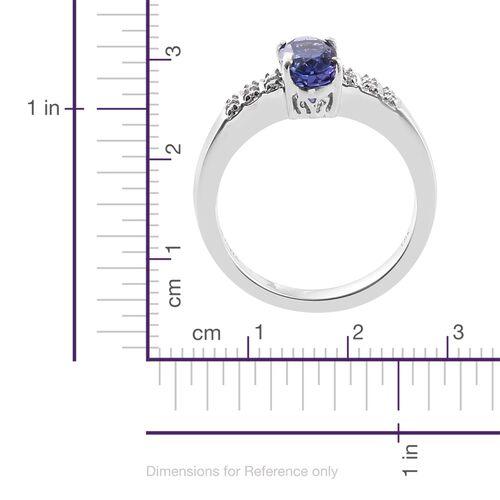 ILIANA 1.95 Ct AAA Tanzanite and Diamond (SI/G-H) Ring in 18K White Gold