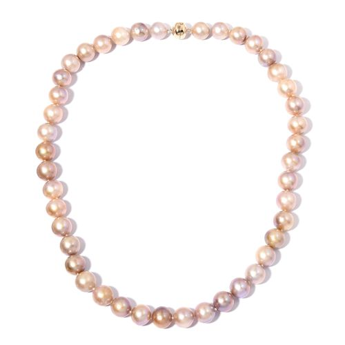 9K Yellow Gold AAA Multi Colour Edison Pearl (Rnd) Beads Necklace (Size 20)