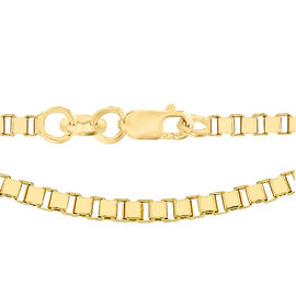 9K Yellow Gold Box Chain (Size 24), Gold wt 6.4 Gms.