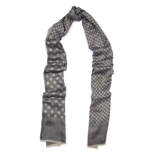 100% Cashmere Wool Grey Colour Ultra Soft Scarf (Size 200X70 Cm)