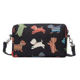 SIGNARE  - Tapestry Collection -Playful Puppy Shoulder Hip Bag           (20x13x7cm)